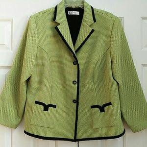Fantastic green and black blazer